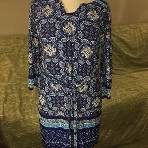 Paisley multi blues 👗 dress